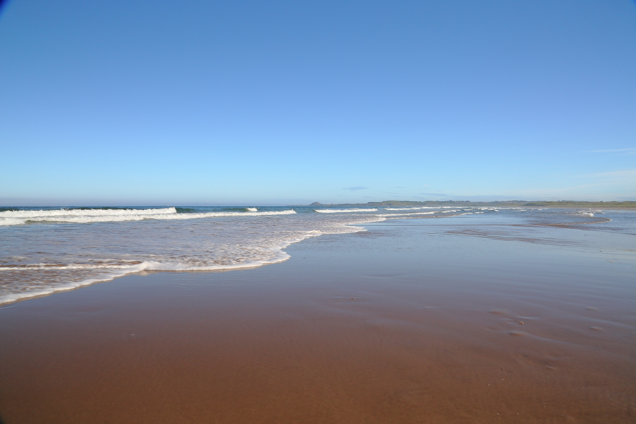 Ross beach (towards Bamburgh castle)